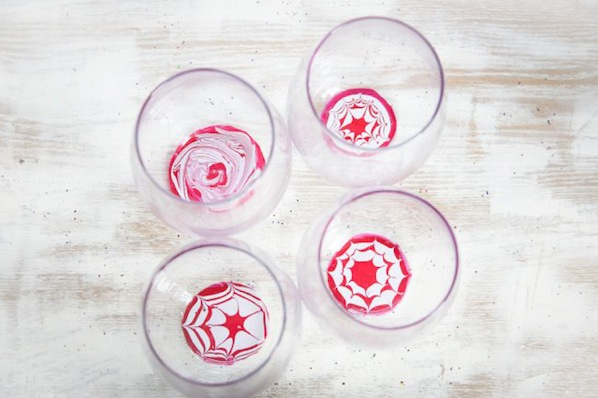 How-To: Peppermint Marbled Glasses