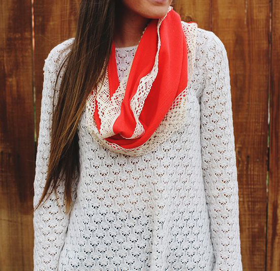 How-To: Simple Lace-Embellished Scarf