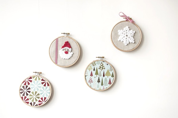 How-To: Holiday Embroidery Hoop Decorations
