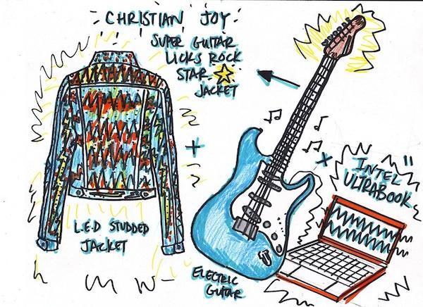 Disco Jacket Responds to Guitar Licks