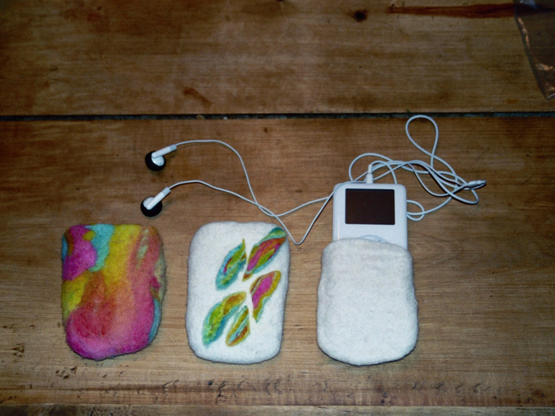 Felted iPod Cozy