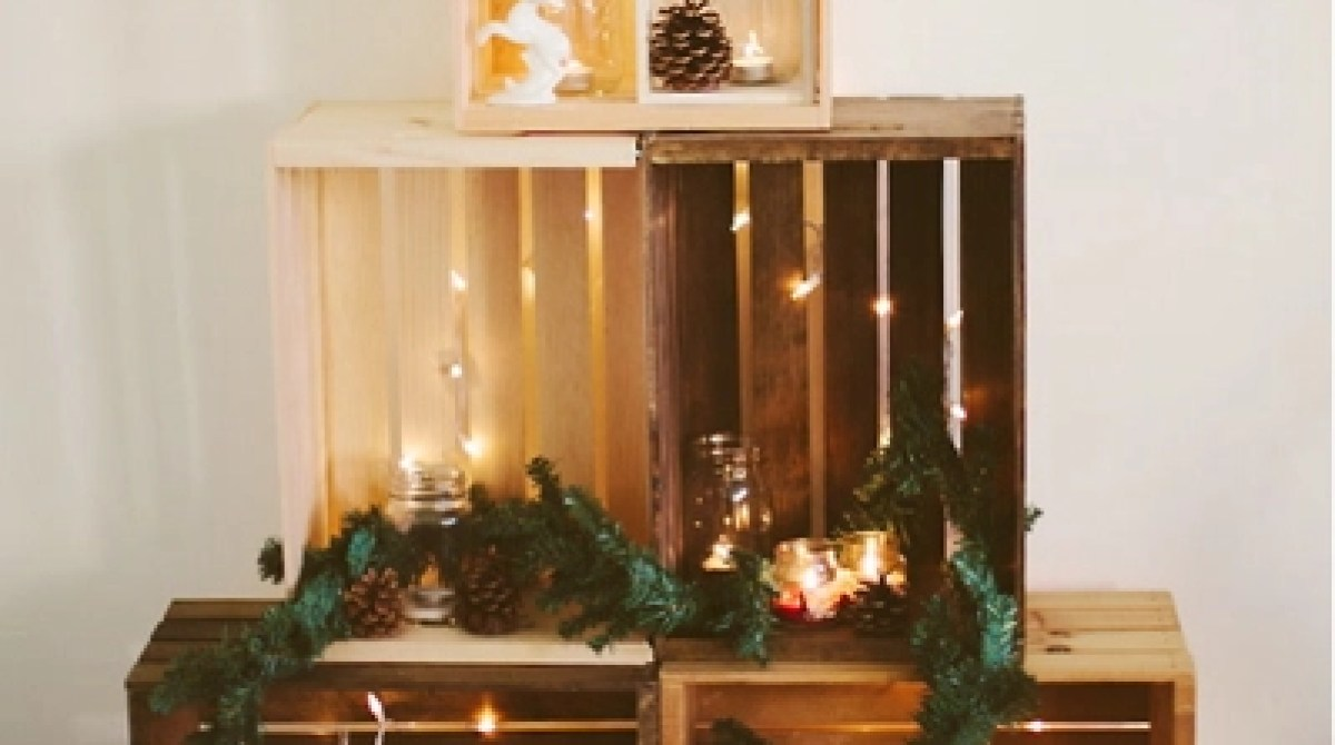 Wooden Crate Christmas Tree