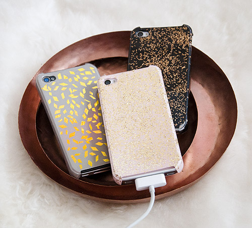 How-To: Decorate iPhone Cases with Leftover Holiday Glitz