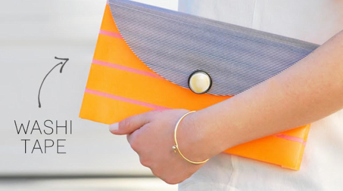 DIY Washi Tape Clutch