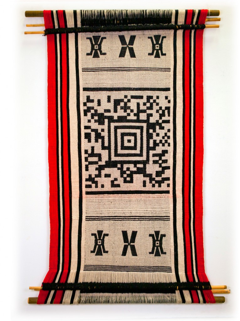 Hand-Woven QR Code Tapestries