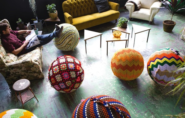 Knitted Yoga Ball Covers
