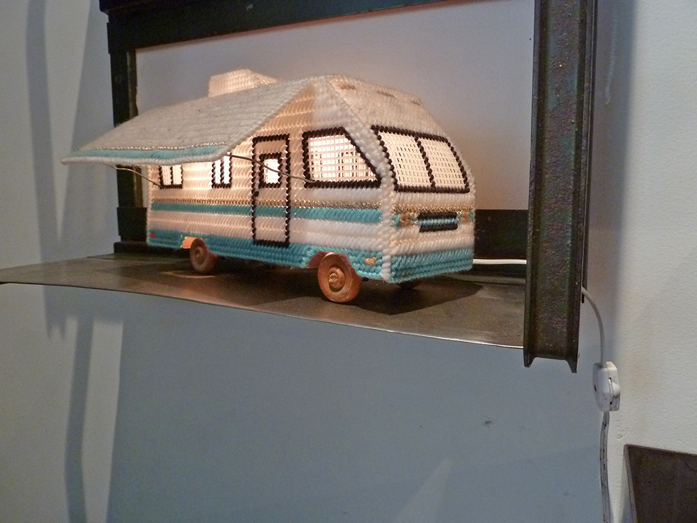 Plastic Canvas Needlepoint RV Lamp