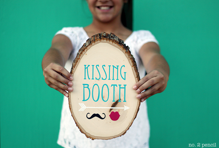 Valentine's Day Kissing Booth Sign