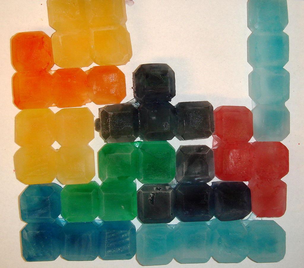 Tasty Tetris Ice Cubes