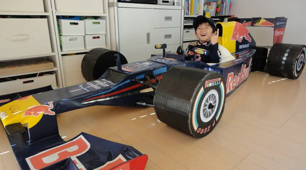 Making a Red Bull F1 Car with Cardboard | Make:
