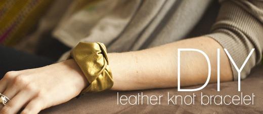 DIY Leather Knot Bracelet
