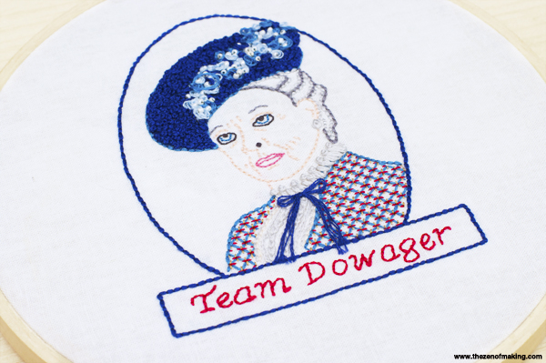 Downton Abbey-Inspired Dowager Countess Embroidery Pattern