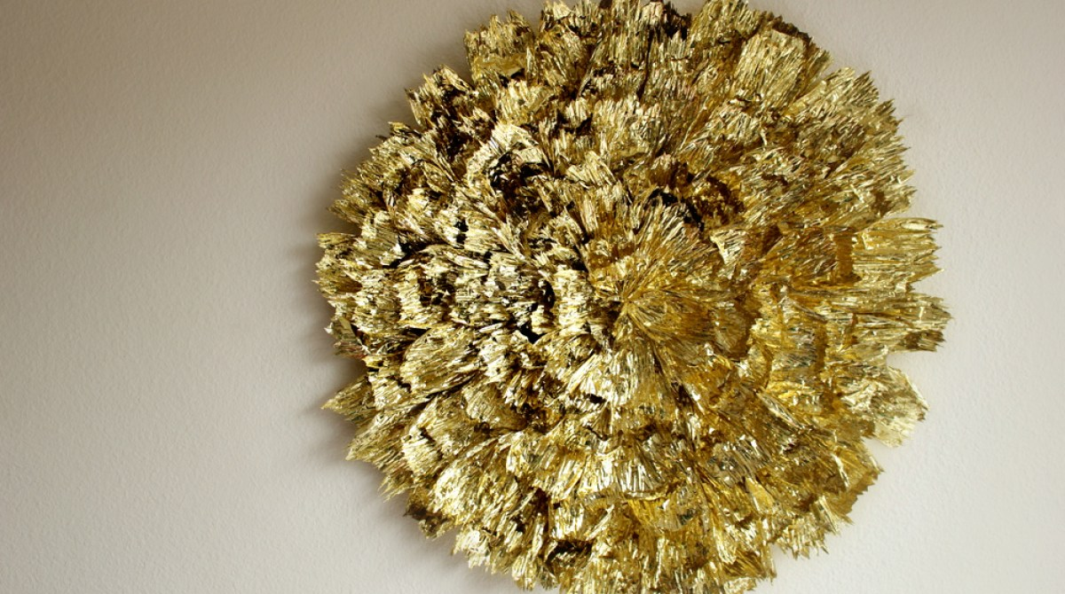 Gold Statement Wall Piece Make