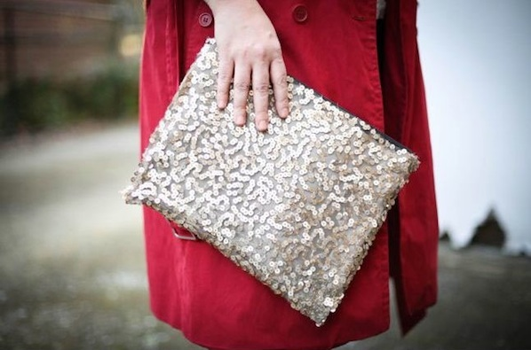 How-To: No-Sew Sequined Clutch