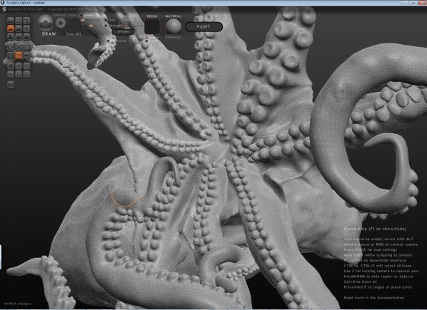 Working on the octopus in Sculptris | Make: DIY Projects and