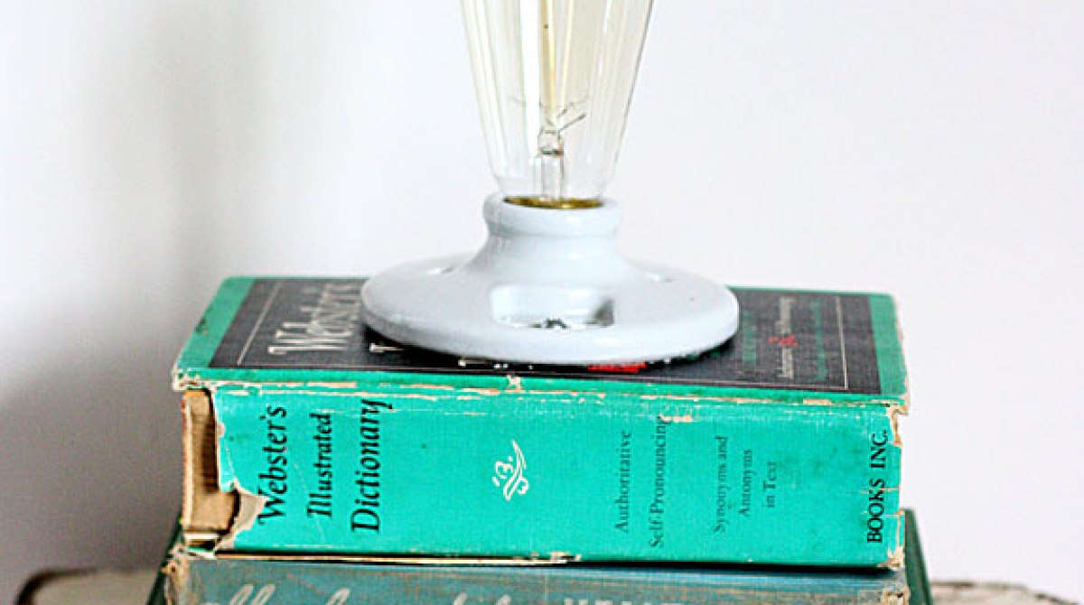 How-To: Hardcover Book Lamp