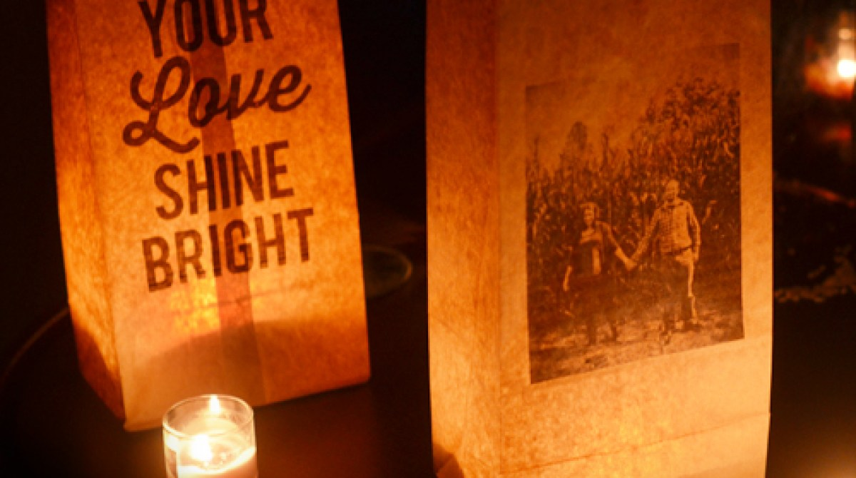 How-To: Photo & Quote Paper Bag Luminaries