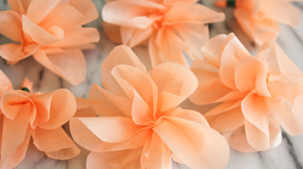 How To Tissue Paper Flower Garland Make