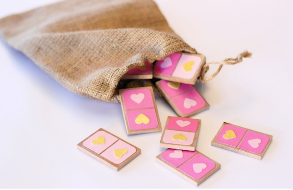 How-To: Valentine's Day Dominos