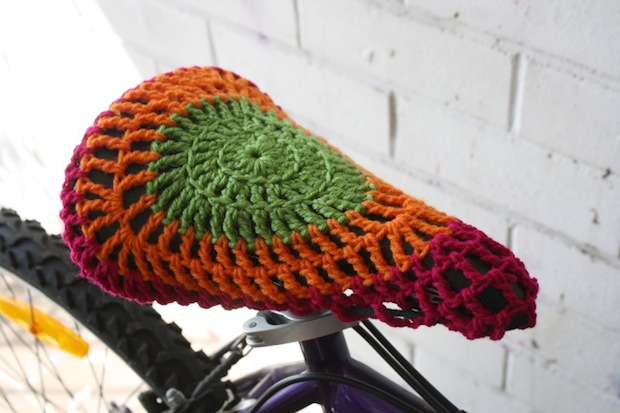 How-To: Crocheted Bike Seat Cover