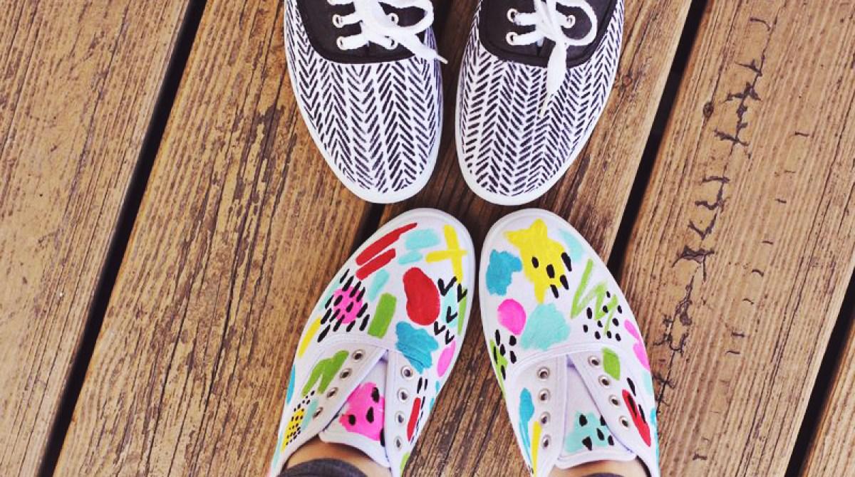 DIY Spring Sneakers