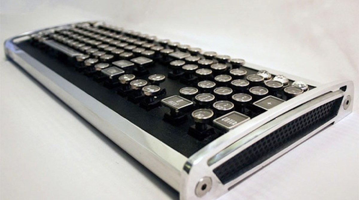 Vintage Typewriter Keys + New Tech = Diesel Punk Keyboard?