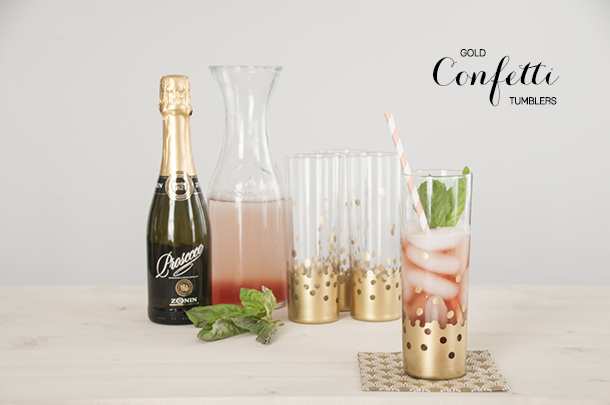 How-To: Gold Confetti Tumblers