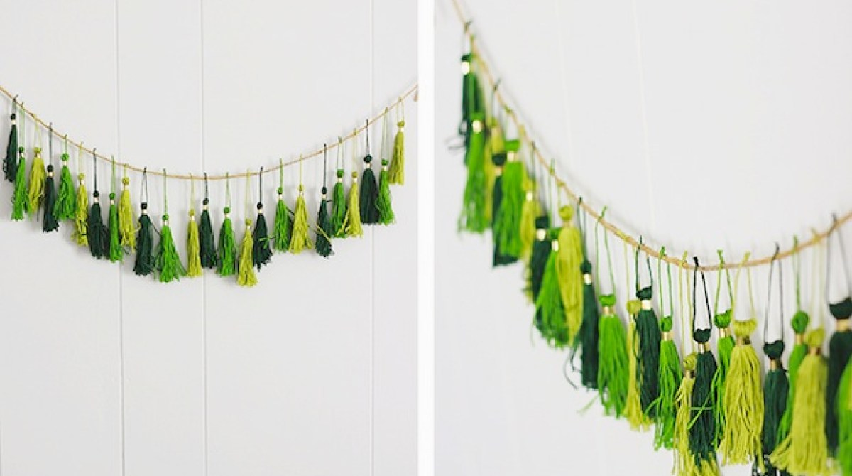 How-To: St. Patrick's Day Tassel Garland
