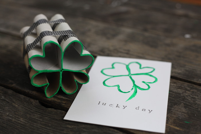 How-To: Make Four Leaf Clover Stamps with Toilet Paper Tubes