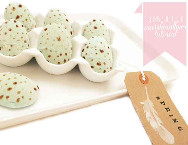 How-To: Robin Egg Marshmallows
