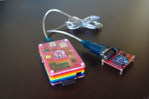 Check out this Raspberry Pi & Arduino-Controlled Weather Station.