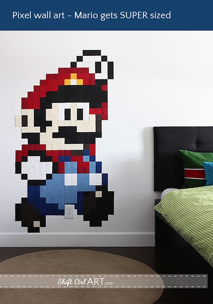 Super-Sized Mario-Inspired Pixel Wall Art