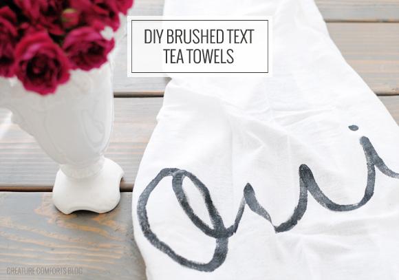 Hand Painted Tea Towels