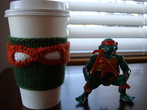 TMNT Coffee Cup Cozy