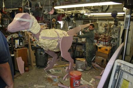 A lifesize, lifelike raptor to walk around the faire.