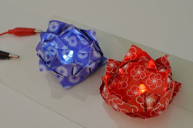 How-To: LED Origami Lotus Flowers and Frogs
