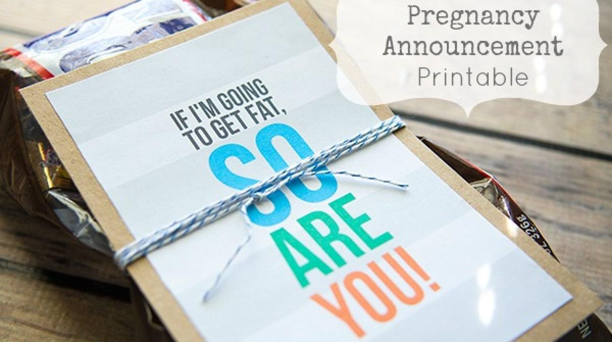 Funny Pregnancy Announcement Printable