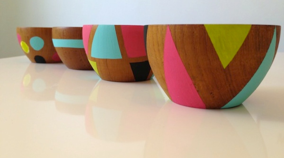 How-To: Painted Wooden Bowls