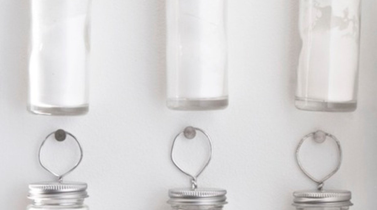 How-To: Wire and Nail Spice Jar Storage