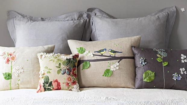 How-To: Silk Flower Applique Pillows