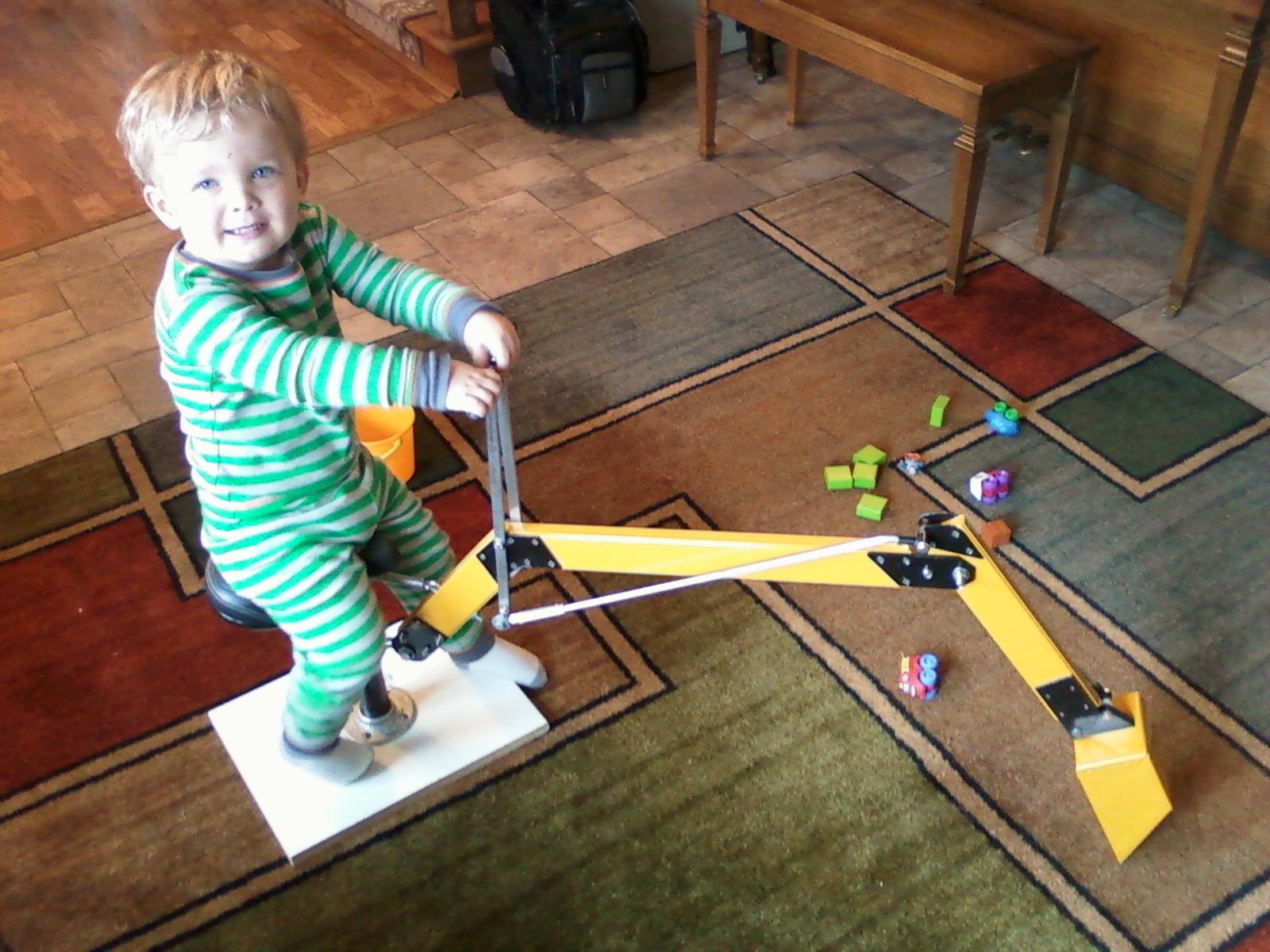 Kid's Toy Excavator
