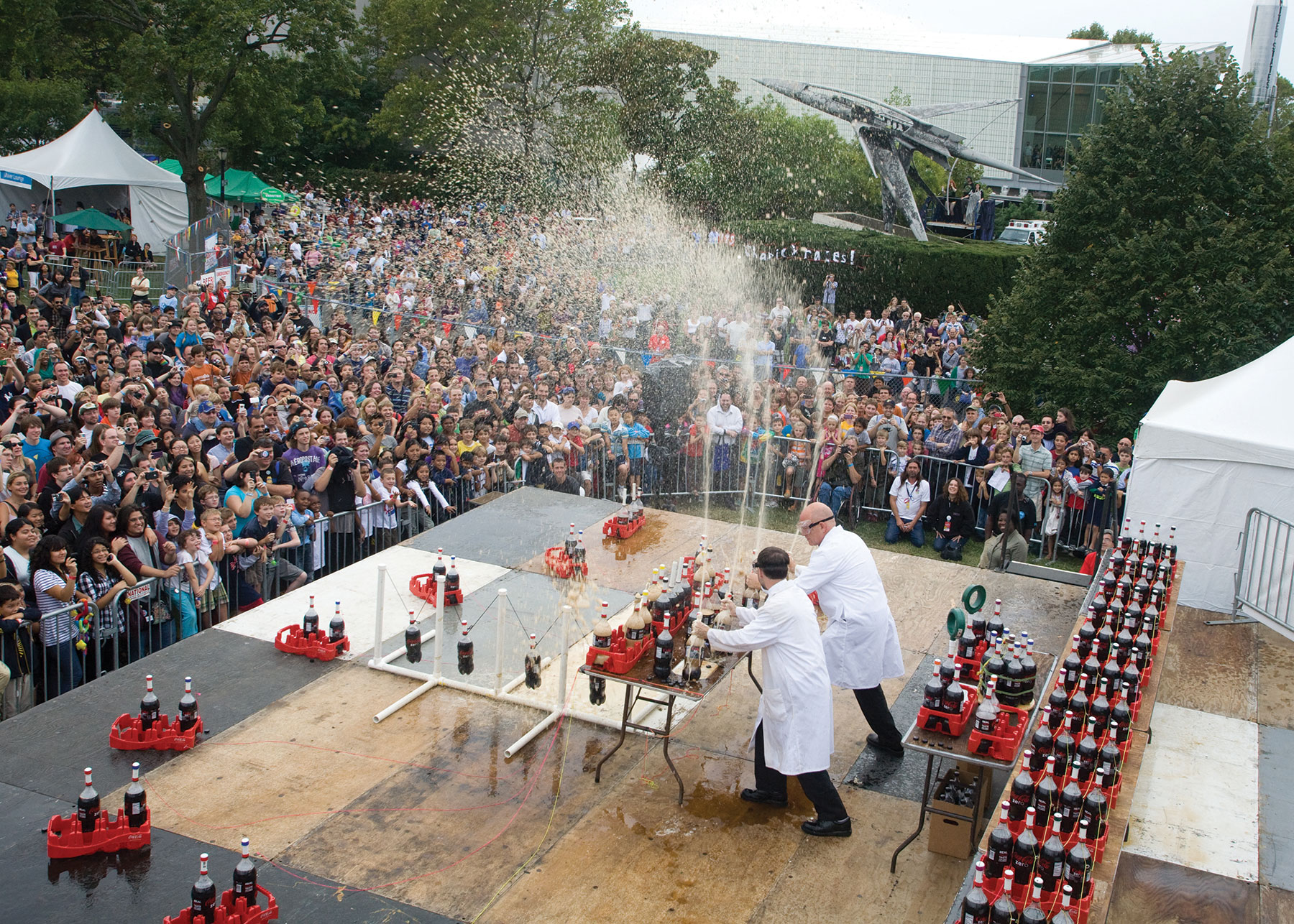 Fueled by Coke Zero, Mentos, and Science!