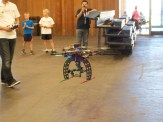 A hexcopter with a large, camera-less gimbal.