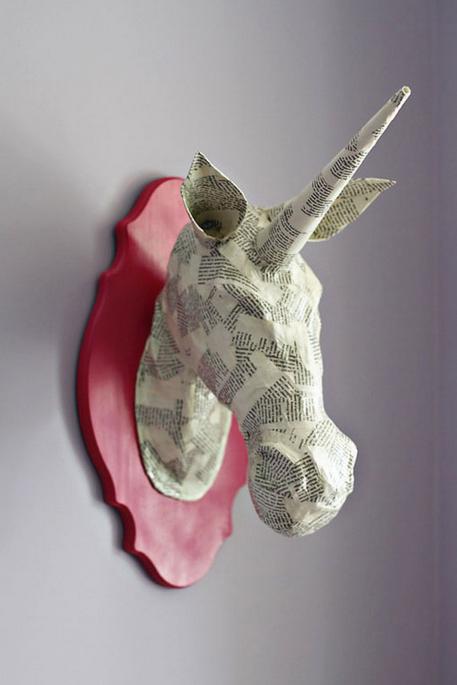 Paper Mache` Animal Head