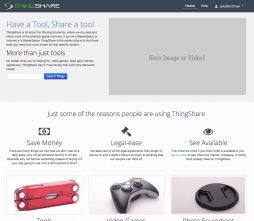AirBnb for Makers. ThingShare is a Collaborative Consumption platform for makers to share tools and consumables.