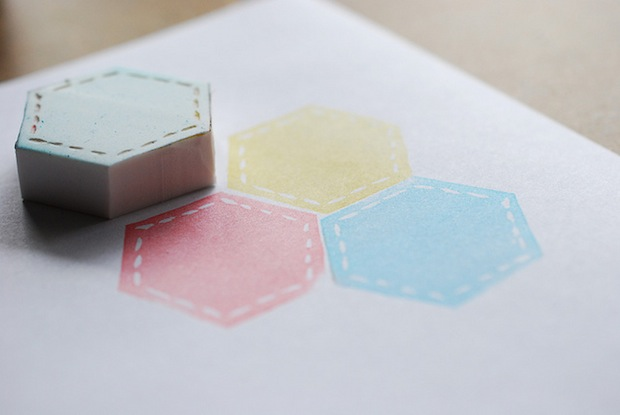 How-To: Hexagon Quilt Stamps