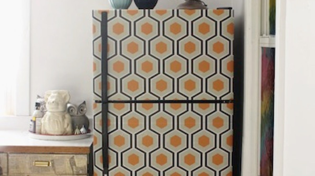 How-To: Wallpaper Your Fridge