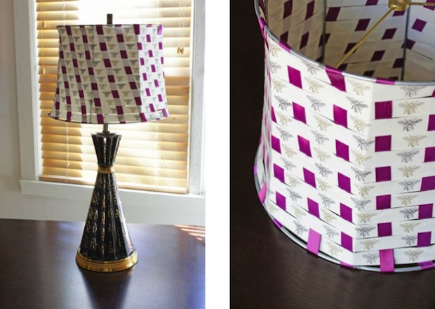 How-To: Woven Ribbon Lampshade