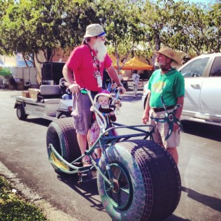 There were all manner of wheeled conveyances at Maker Faire.