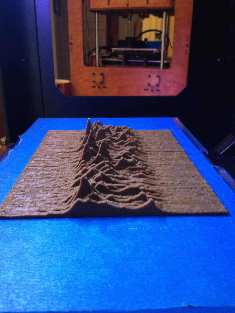 "Joy Division's ""Unknown Pleasures"" Cover 3D-Printed"